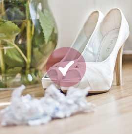Auswahl des richtigen Brautschuh Ivory