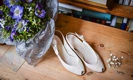 Brautschuhe Ivory für kleinere Füße