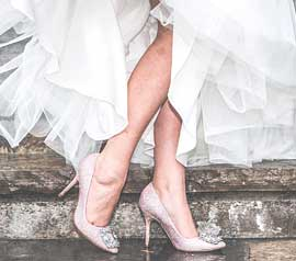 Farbauswahl der Hochzeitsschuhe Ivory