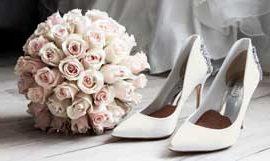 Material der Brautschuhe Ivory